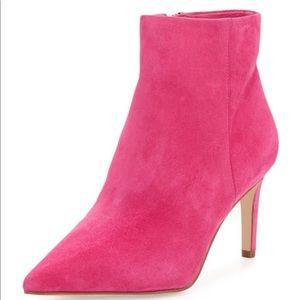 Sam Edelman Pink Suede Booties Boots